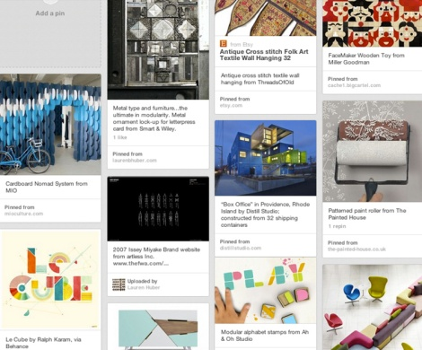 Pinterest Modularity Board