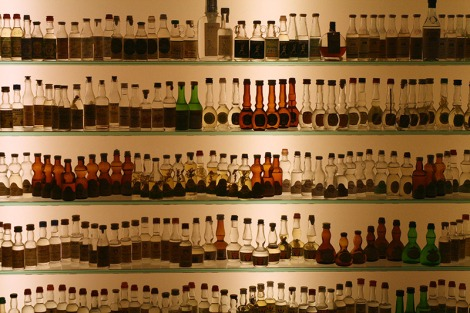 Shelves of Grappa